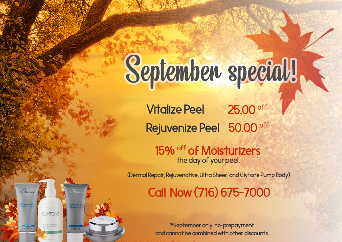 Best Dermnatologist Offers for the Month of Sepetember at Orchard Park Dermatology