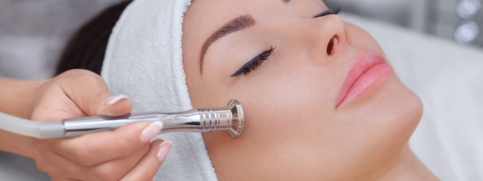 A Woman Having Microdermabrasion Treatment