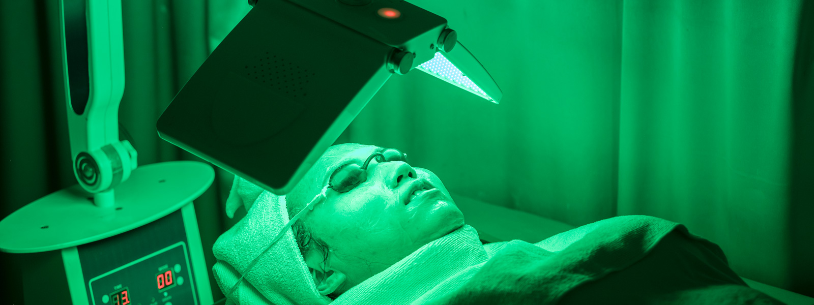 A Patient Getting Photodynamic Therapy Done