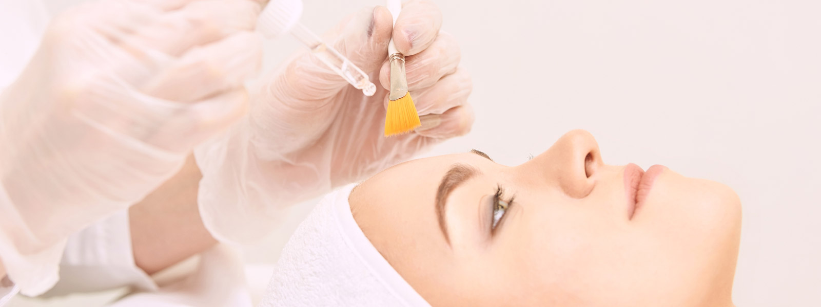 A Woman Getting Done Chemical Peels Treatment