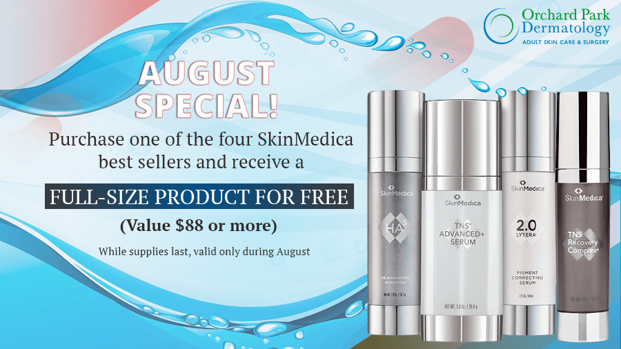 August Monthly Promotion of Orchard Park Dermatology